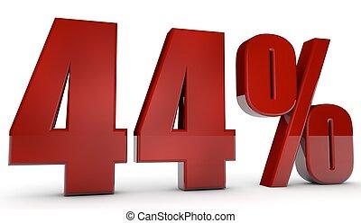 percent,44