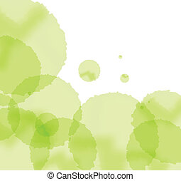 Artistic green splash background