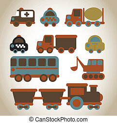 cars design over beige background vector illustration