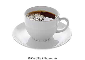 Coffee - Isolated coffee cup on white