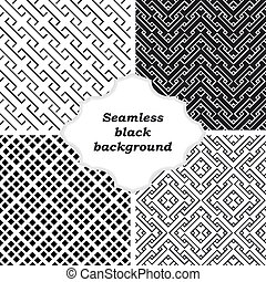 Set of black and white patterns - An elegant black and...