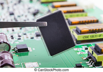 Holding Micro Chip