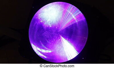 Disco light - Round lantern motionless disco Constant change...