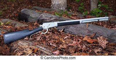 palanca, acción, rifle