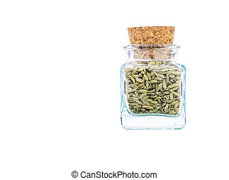 Sweet Cumin Spices - Sweet cumin spices in a corked bottle