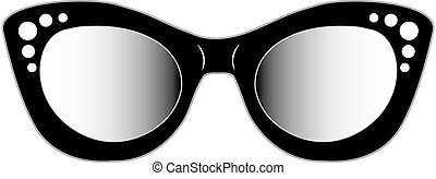Vintage cat eye eyewear for ladies