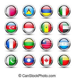 Welt, Fahne, glas, heiligenbilder