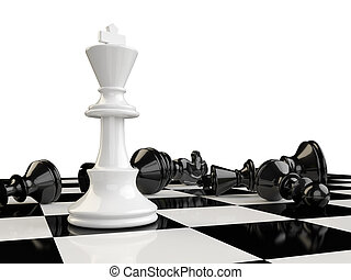 The kings beats all the other pieces of the board and remain...