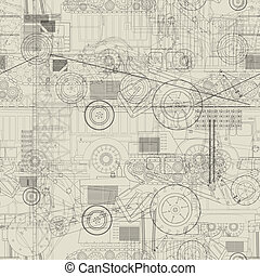 Industrial vehicles pattern