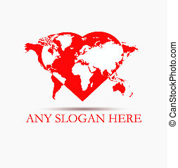logo in the heart of the world