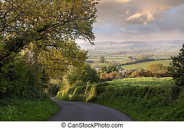 Evening time, Rural England - Evening time near the pretty...