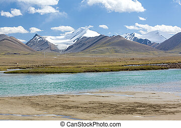 Arabel-Suu river in Kirgizstan. Tien Shan mountains