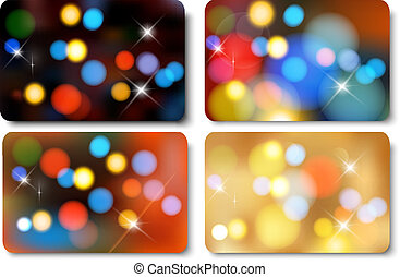 Set of colorful abstract gift cards. Vector illustration