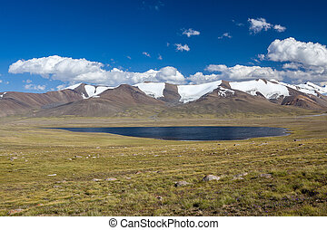 Mountain lake. Kirgizstan - Mountain lake. Tien Shan,...