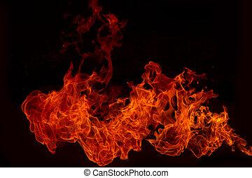 brûler, explosion, flamme, brûler, Flammes, fond