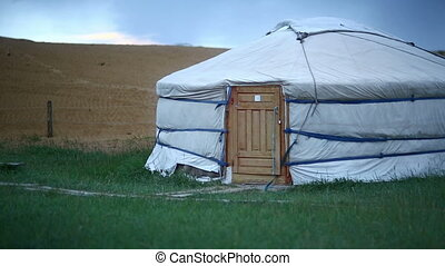 Mongolian Ger at central mongolia - Mongolian Yurt in...
