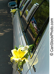 limousine - Fresh flowers on a limousine...