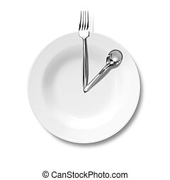 Business lunch, a plate