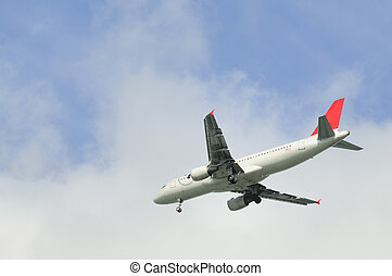 Commercial airliner - Commercial aircraft coming into land...