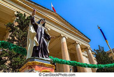 Law Court Nun Statue