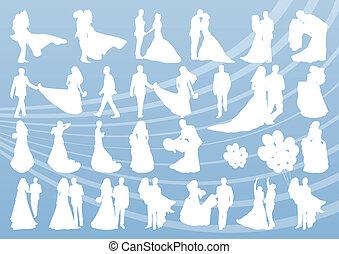 Bride and groom in wedding