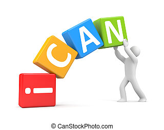 I can - Success concept. Isolated on white
