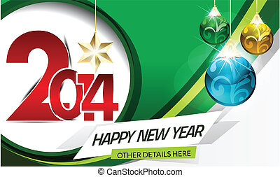 Vector New Year Card Design Vector illustration