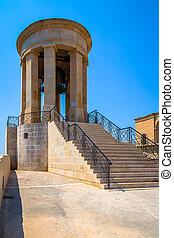 Siege Bell - The Siege Bell memorial in Valletta, Malta