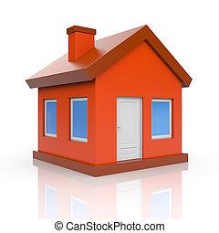 House. Isolated on white - House icon. Isolated on white