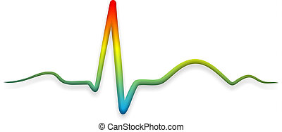 heart medicine - illustration of an electrocardiogram of a...