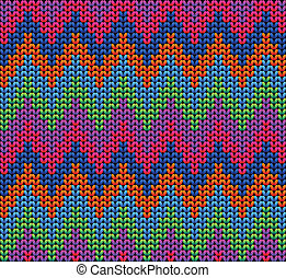 Color Knitted Wool Pattern Background