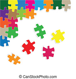 Colorful jigsaw puzzle vector background