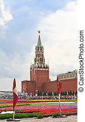Flower Festival in Red Square. Moscowf