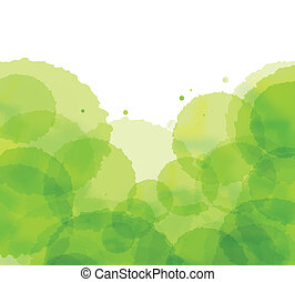 Ecology cloud green splash vector