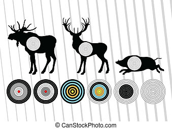 Deer vector background for poster