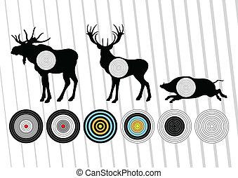 Deer vector background