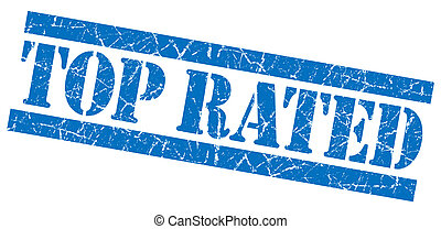 Top rated blue grunge stamp