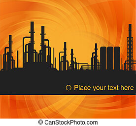 Factory vector background for poster