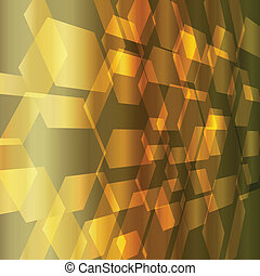 Gold abstract metal background vector with transparent...