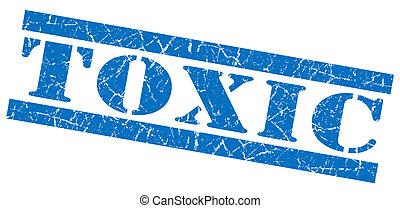 Toxic blue grunge stamp