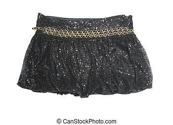 mini skirt - black mini skirt isolated on white