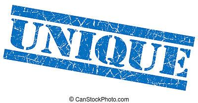 Unique blue grunge stamp