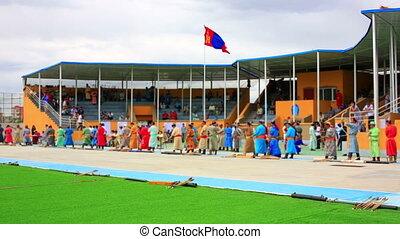 Naadam Festival Archery Tournament