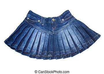 mini skirt - cotton mini skirt isolated on white contains...