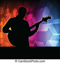 Guitar player vector background concept for poster