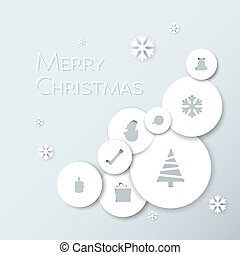 Simple modern minimalistic vector christmas card - Simple...
