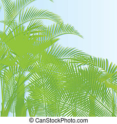 Tropical leaf rain forest background vector