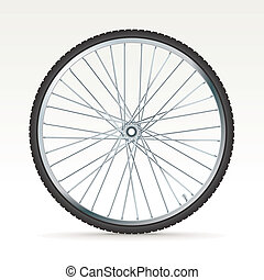 vector bike wheel - 3D bike wheel - vector illustration