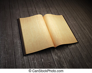 open blank old book