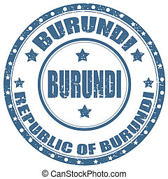 Burundi-stamp - Grunge rubber stamp with text Republic Of...